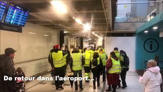 Des Gilets Jaunes investissent l'aéroport de Nantes-Atlantique