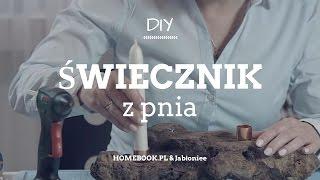 Jak Zrobić świecznik Z Pnia? #DIY #ŚWIECZNIK