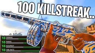 100 KILLS in 1 LIFE on Call of Duty WW2.. (100 KILLSTREAK V2 ROCKET) BEST PPSH CLASS in COD WW2!