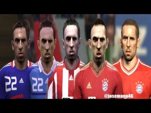 Franck RIBERY from PES 4 to PES 2014