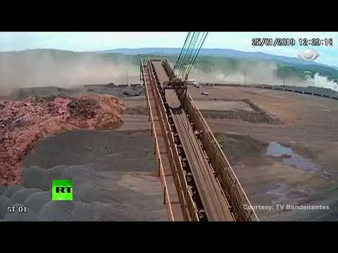 Caught on cam: Moment dam collapses in Brazil resulting in deadly mudslide