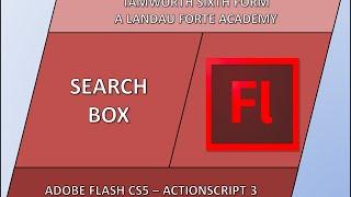 Flash Search Box Tutorial
