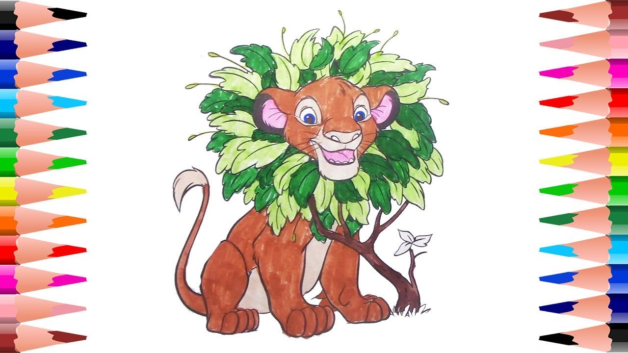 Disney Coloring Pages For Kids Coloring For Kids Simba In The Lion