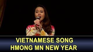 3HMONG NEWS: Girl sings vietnamese song at Hmong MN New Year celebration.