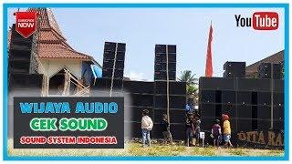 WIJAYA AUDIO SOUND SYSTEM CEK SOUND DI LAPANGAN NGANTRU NGANTANG