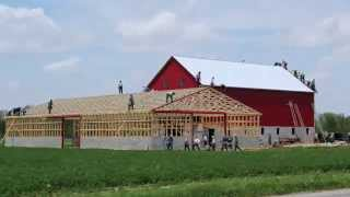 Ohio Amish Barn Raising - May 13th, 2014 In 3 Minutes And 30 Seconds