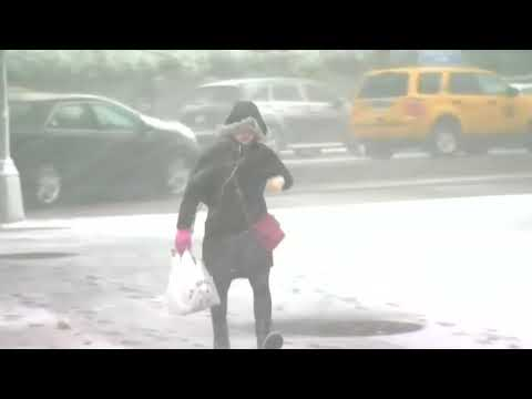 New York turns white as latest winter storm hits US East Coast