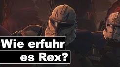 Wann erfuhr Captain Rex, dass Anakin Skywalker zu Darth Vader wurde? (Kanon)