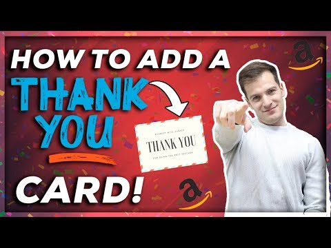 How To Add Thank You Card Inserts To Your Amazon Fba Product Packaging To Provide Ive Va
