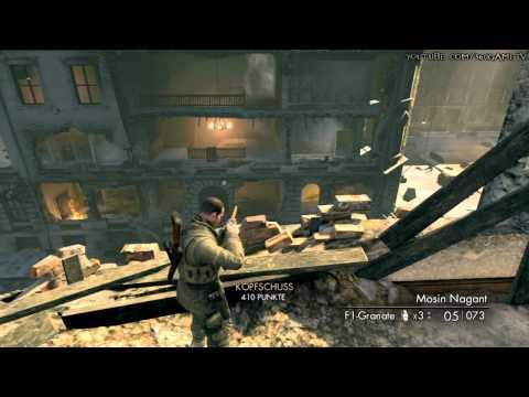Sniper Elite V2 - Sniper Elite Difficulty Walkthrough - Opernplatz - HD