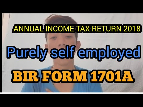INCOME TAX RETURN 2018 - 1701A PURELY SELF EMPLOYED