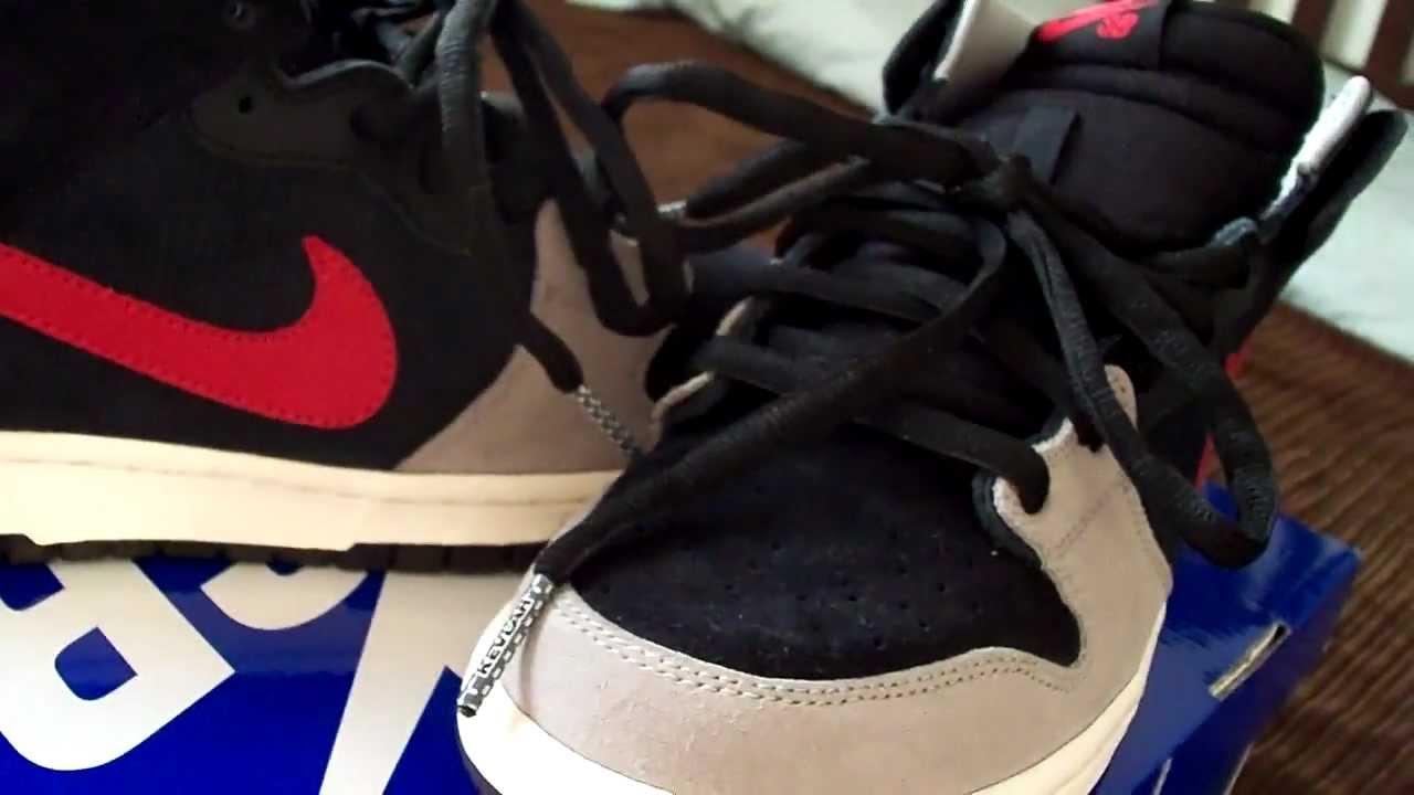 Nike Dunk Sb Milieu Varsity Noir 6s Rouge