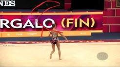 GERGALO Rebecca (FIN) - 2019 Rhythmic Worlds, Baku (AZE) - Qualifications Ribbon