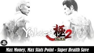 [PS4] Yakuza Kiwami 2 - Max Money, Max Stats Point - Super Health Save
