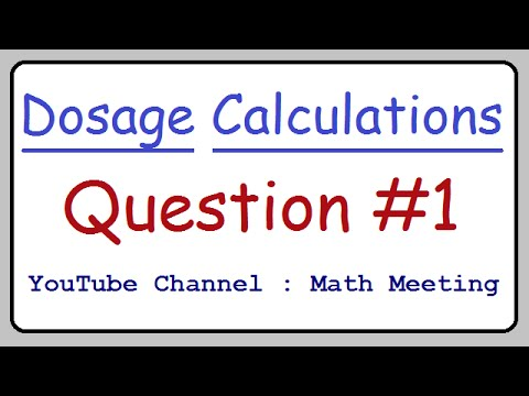 Dosage Calculations Practice Question 1 Youtube