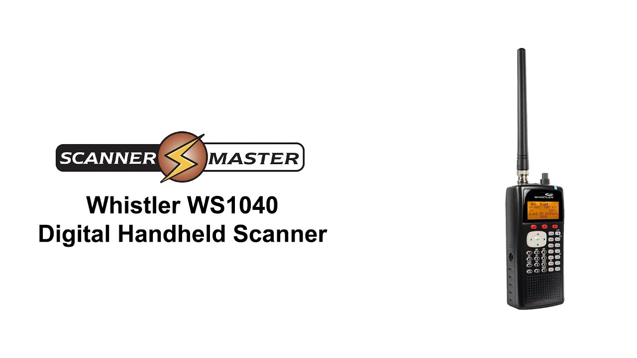 Whistler WS1040 Digital Handheld Police Scanner