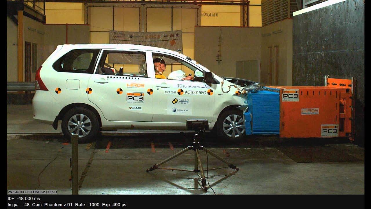 Uji Tabrak Grand New Avanza Yaris Trd 2017 Toyota Asean Ncap Crash Test Youtube