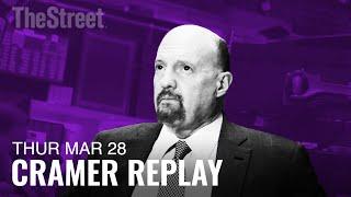 Jim Cramer\'s on Lyft\'s IPO, Lululemon Earnings, and Apple\'s Credit Card