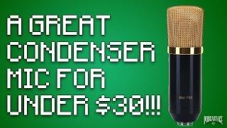 excelvan bm 700 condenser mic review test