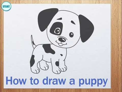 How to draw a puppy YouTube