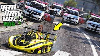 ROLE E FUGA DE SUPER KART GTA 5 MODS !!