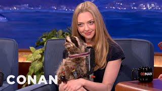 Conan Gives Amanda Seyfried His Screeching Jet Pack Raccoon - CONAN on TBS