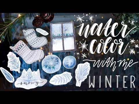 Watercolor With Me ❄️ Winter Paintings
