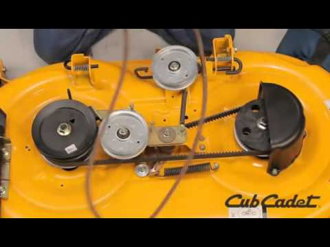 How to Change the PTO Belt on a Cub Cadet Riding Lawn Mower  YouTube