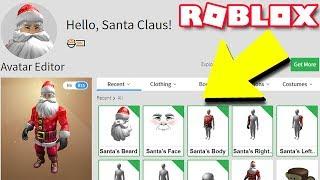 Making SANTA CLAUS A Roblox Account!!