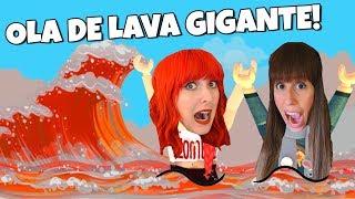 ¿ SOBREVIVEN MEL Y LILI A LA OLA DE LAVA GIGANTE ? | The Floor Is Lava | Roblox Mel y Lili