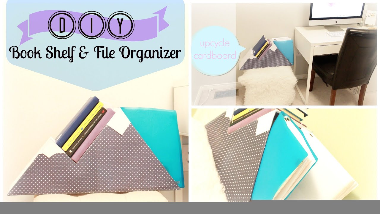 Diy Organization Book Shelf File Organizer Upcycle