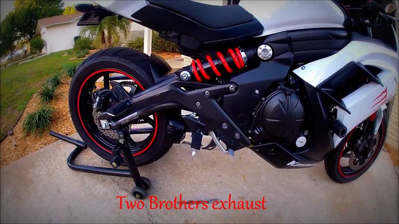 2013 kawasaki ninja 650 two brothers full exhaust - youtube