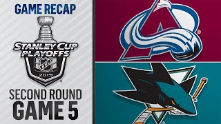 Hertl scores twice to lead Sharks to Game 5 win