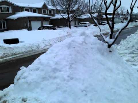 Snow fall in Brampton  Canada