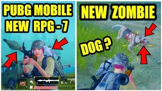 PUBG MOBILE NEW 0.12 UPDATE ! NEW RPG-7 GUN GAMEPLAY ! NEW ZOMBIE MODE ?