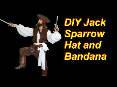Diy Jack Sparrow Costume Part 4 Bandana And Hat