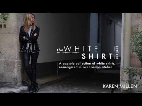 Karen Millen   White Shirt Project - Camille Charriere