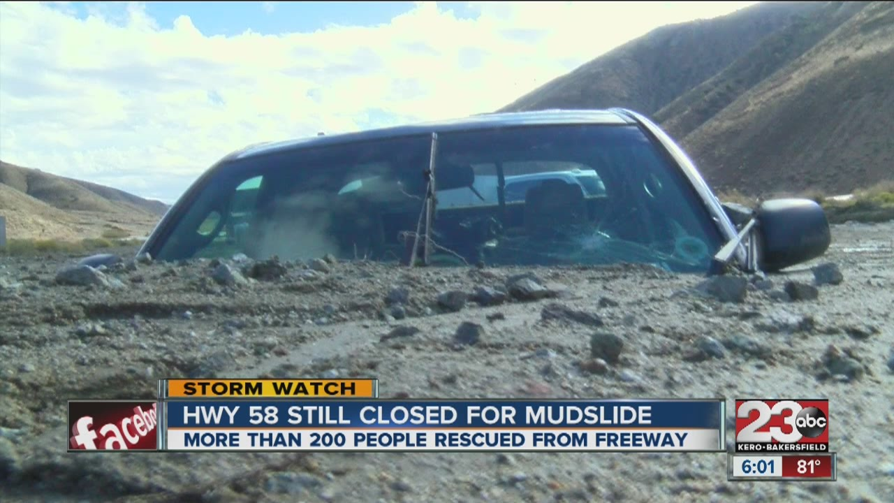 Hwy 58 still closed due to mudslide