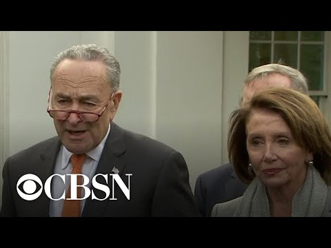 Trump walks out of contentious meeting on shutdown with Democrats