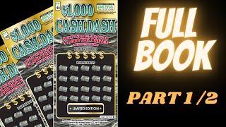 ♛ VA Scratch King ♛ - Full Book of $1,000 Cash Dash Tickets   Part 1 of 2