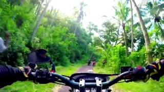 Offroaders klx di tengah hutan from Bali