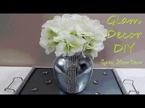 Dollar Tree DIY Glam Bling Vase Glam Centerpiece