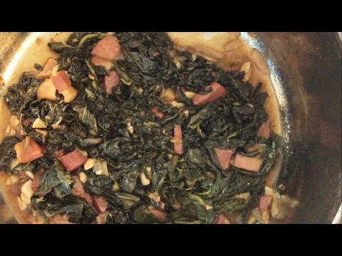Braised Collards w/ Country Ham and Other Special Ingredients