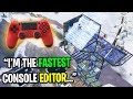 I met the FASTEST EDITOR on Console Fortnite... (Best Controller Editor)