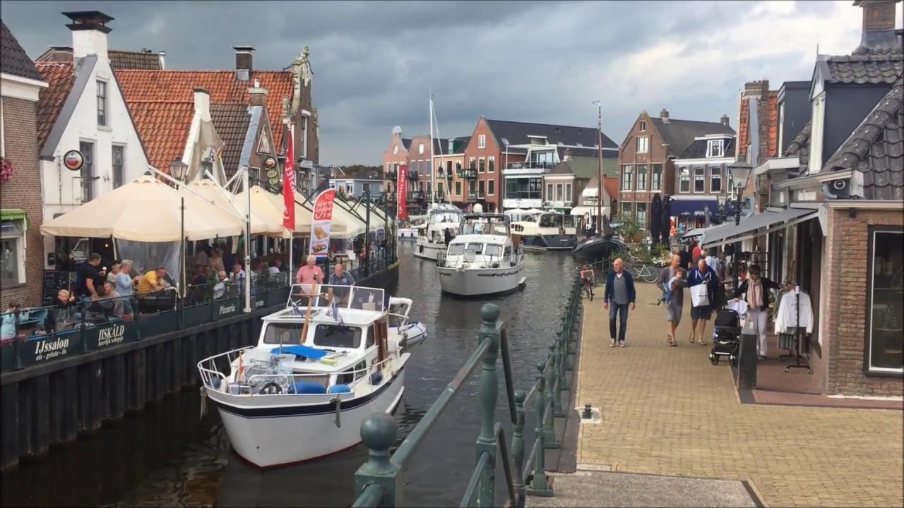 Niederlande Ijsselmeer Karte.Lemmer Ijsselmeer Niederlande Netherlands 07 2017 Lemmer Downtown Beach Pumping Station