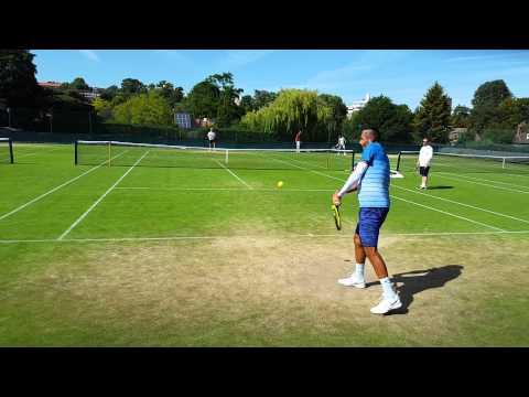 Nick Kyrgios practice Wimbledon 2015 Day 1 (1080p HD)