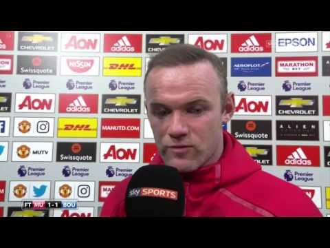 Wayne Rooney Post Match Interview   Manchester United 1 1 Bournemouth EPL