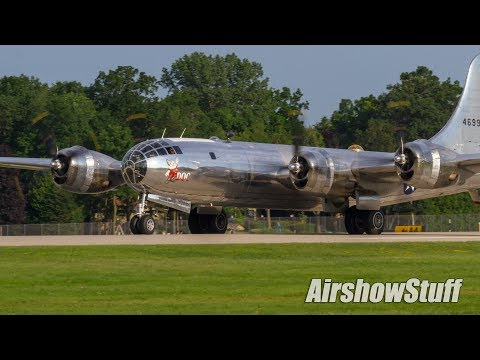 """B-29s """"Doc"""" and """"Fifi"""" Flying Together! - EAA AirVenture Oshkosh 2017"""