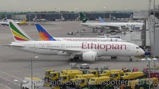 (HD) Eveing Plane Spotting At Manchester Airport From T1 Car Park At Manchester Airport On  02/05/19
