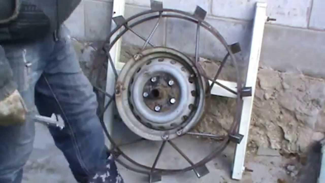 Обзор жигулевских колес на мотоблоке - YouTube